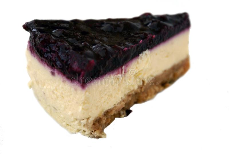 Sobremesa do bolo de queijo do mirtilo fotografia de stock royalty free