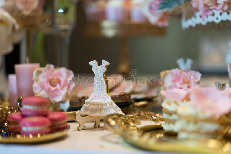 Sobremesa do casamento imagem de stock
