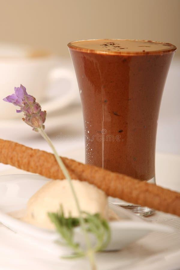 Sobremesa do gelado e do Milkshake imagem de stock royalty free