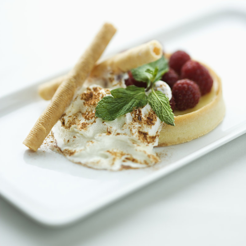 Sobremesa do gourmet. fotografia de stock