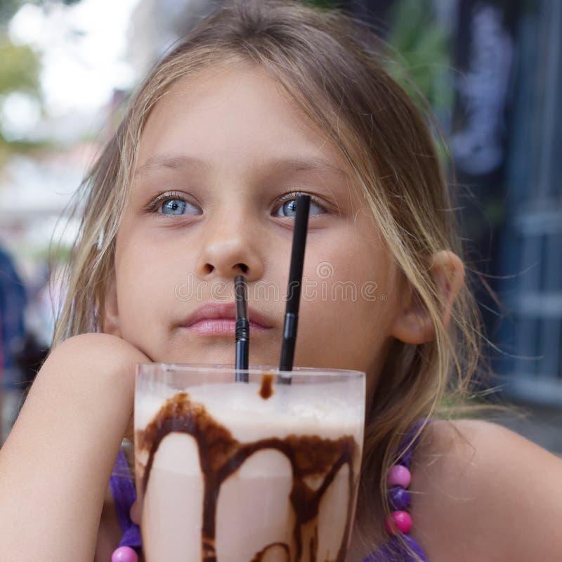 Sobremesa do leite imagem de stock