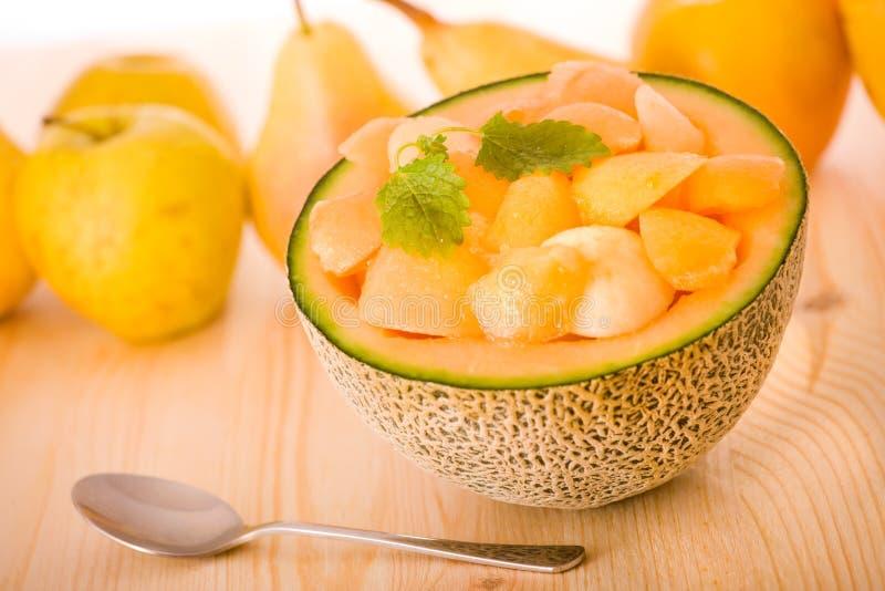 Sobremesa do melão do Cantaloupe fotografia de stock royalty free