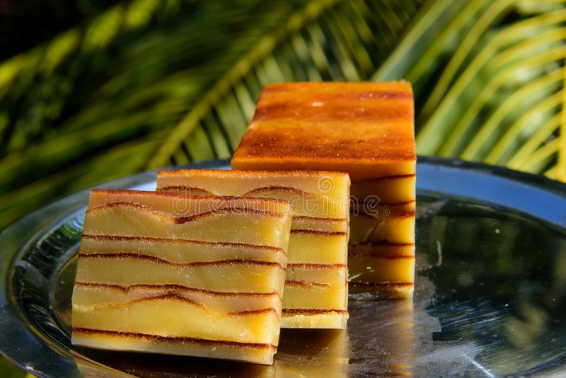 Sobremesa do português de Goan do bebinca de Bebinka imagens de stock royalty free