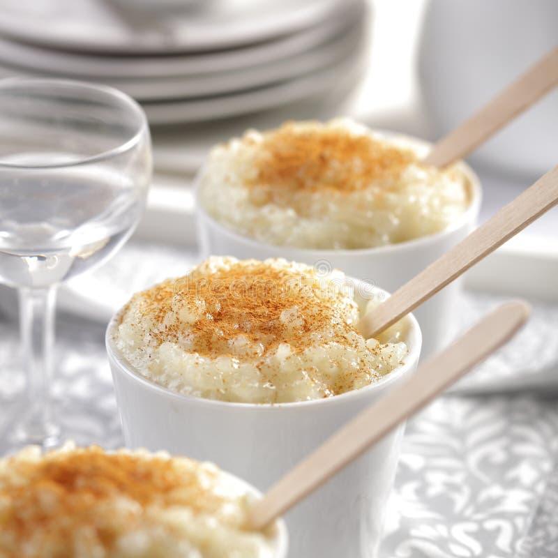 Sobremesa do pudim de arroz foto de stock royalty free