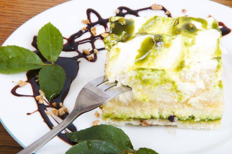 Sobremesa doce do pistachio fotos de stock royalty free