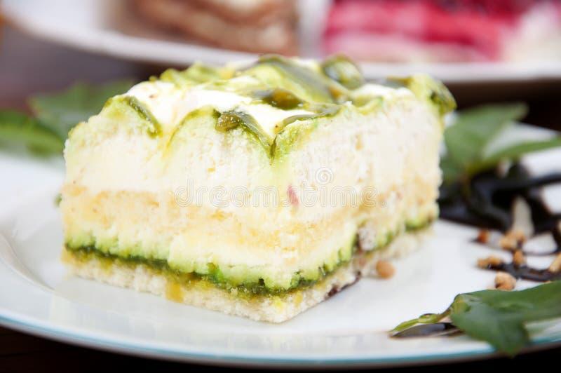 Sobremesa doce do pistachio foto de stock
