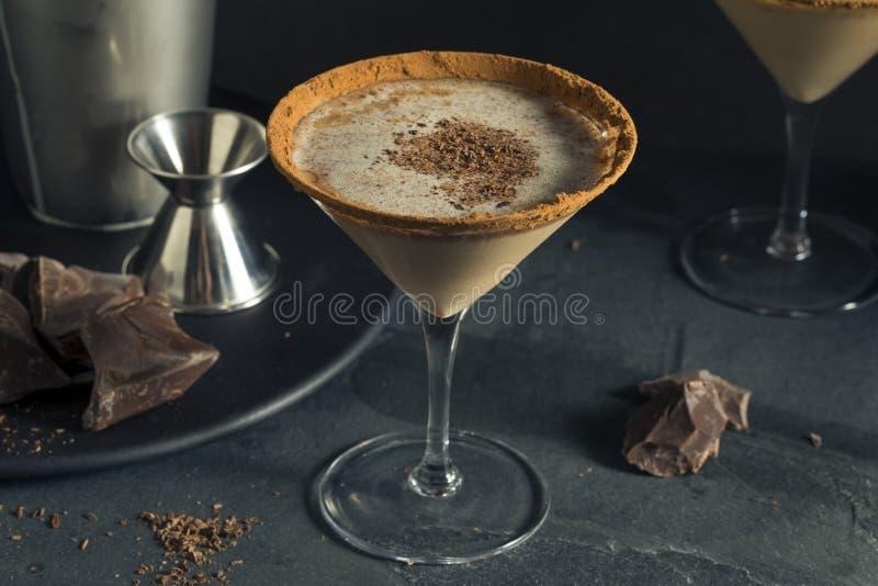 Sobremesa embriagada Martini do chocolate fotografia de stock royalty free