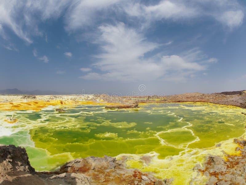 Sobremesa Etopia de Danakil do vulcano de Dallol fotos de stock