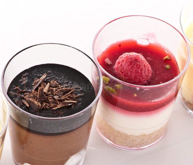 Sobremesa francesa em um vidro foto de stock