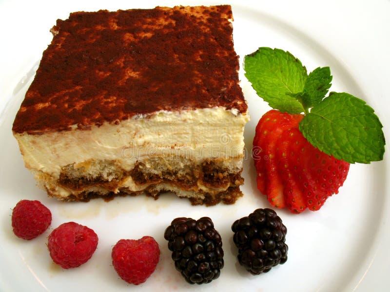 Sobremesa italiana de Tiramisu fotos de stock royalty free