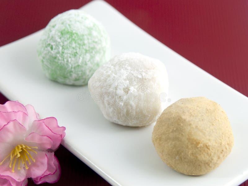 Sobremesa japonesa do mochi foto de stock