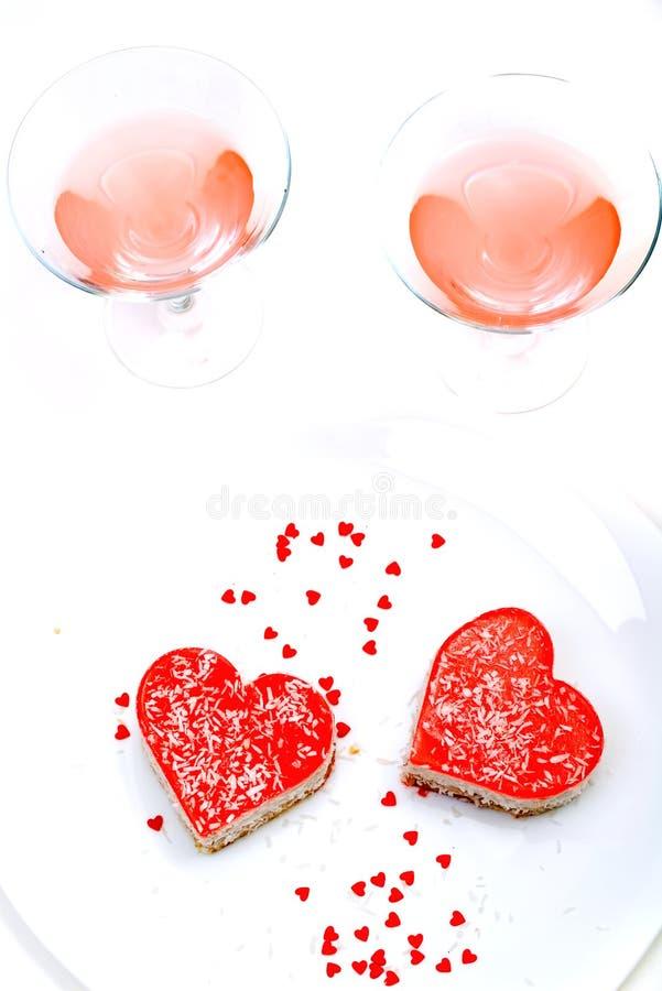 Sobremesa romântica para dois imagens de stock