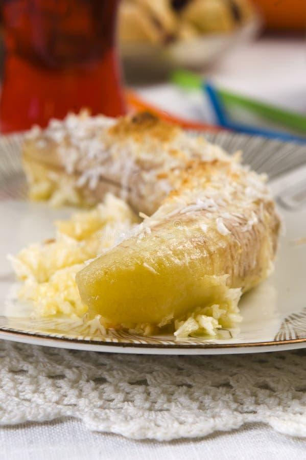 Sobremesa tailandesa da banana fotos de stock royalty free