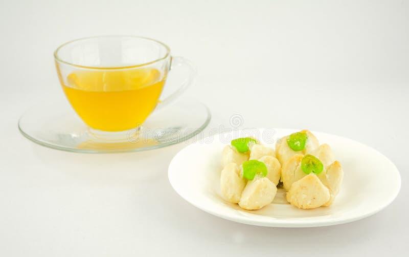 Sobremesa tailandesa do estilo, doces tailandeses, feitos do feijão, do leite de coco e do e foto de stock