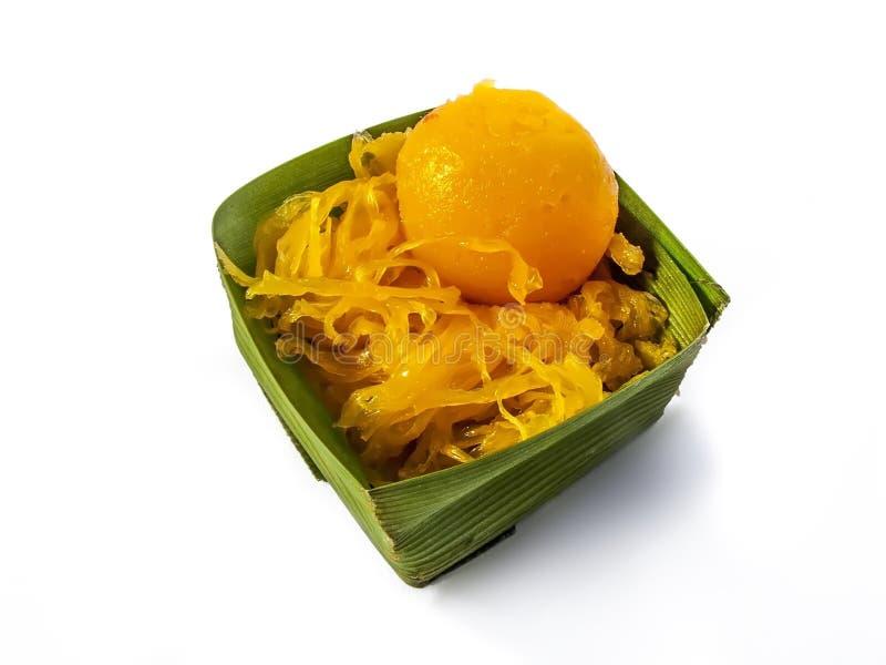 Sobremesa tailandesa o alimento doce de Tailândia fotos de stock
