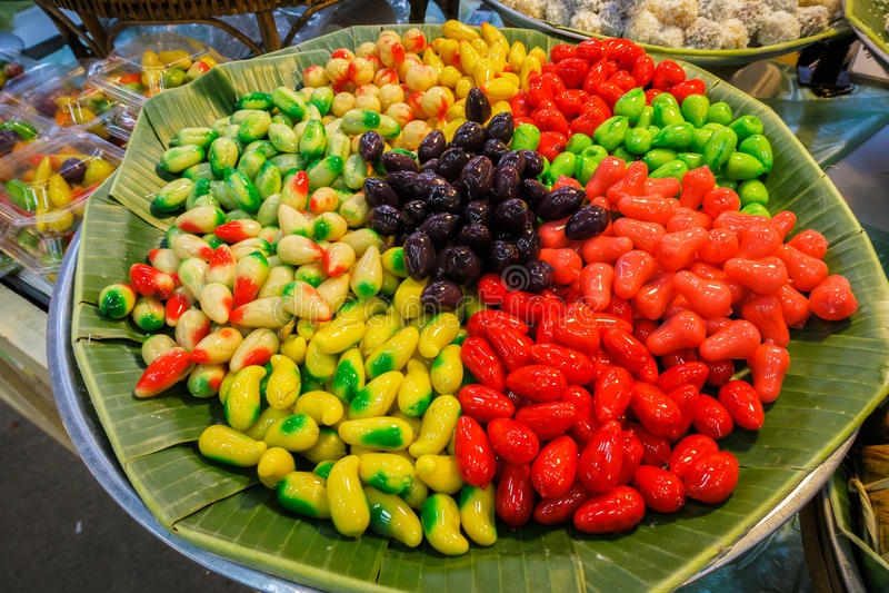 Sobremesa tailandesa tradicional imagem de stock royalty free