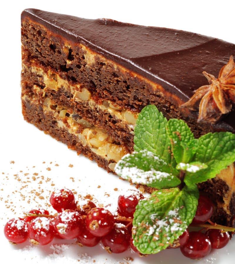 Sobremesa - torta com bagas frescas fotografia de stock royalty free