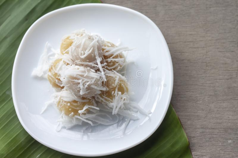 Sobremesa tradicional tailandesa fervida dos doces fotos de stock
