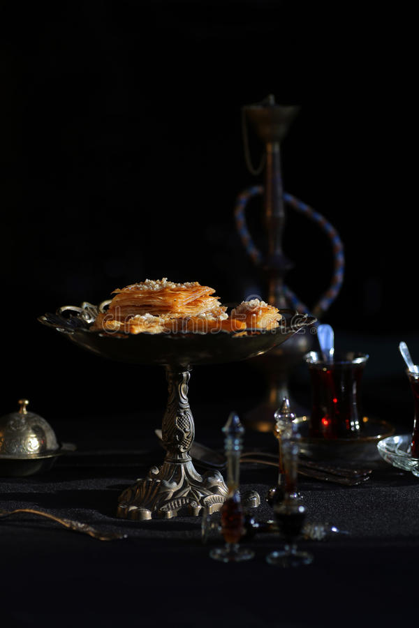 Sobremesa turca tradicional do Baklava fotografia de stock