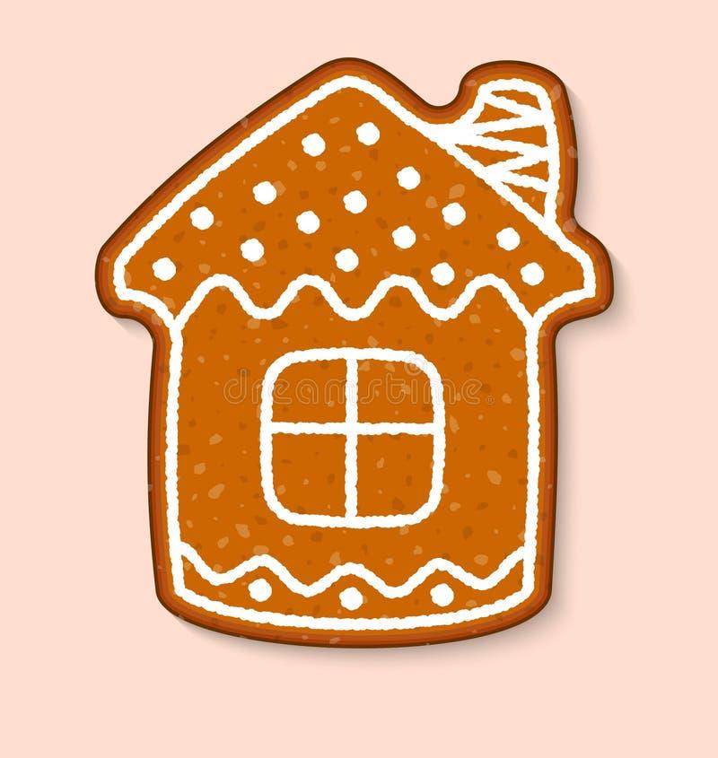 Sobremesas doces do vetor do bolo da casa da cookie do Natal cozinhadas ilustração royalty free