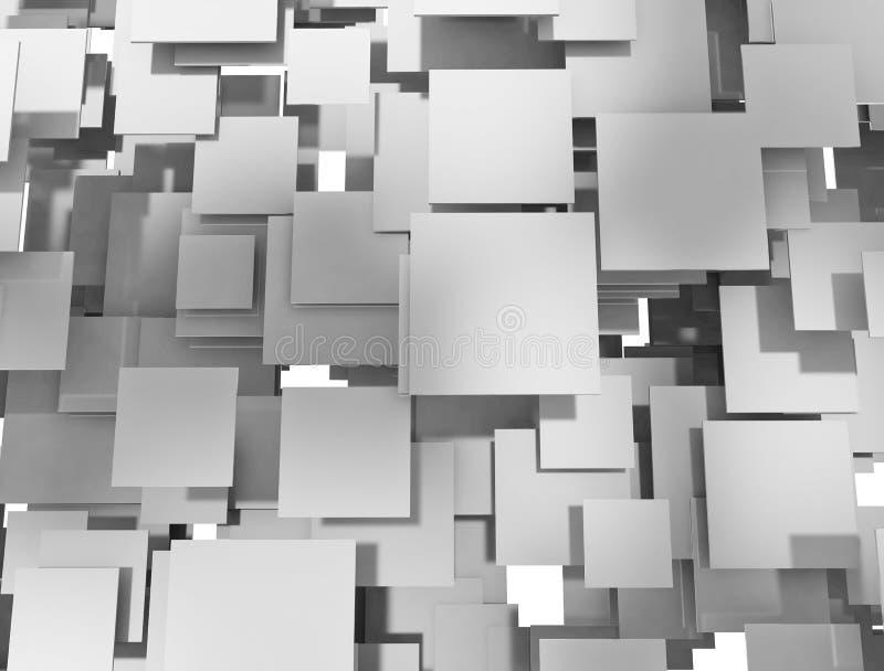 Sobreposição abstrata dos quadrados do metal ilustração royalty free