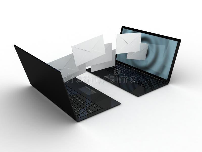 Sobres del ordenador portátil y de la mosca