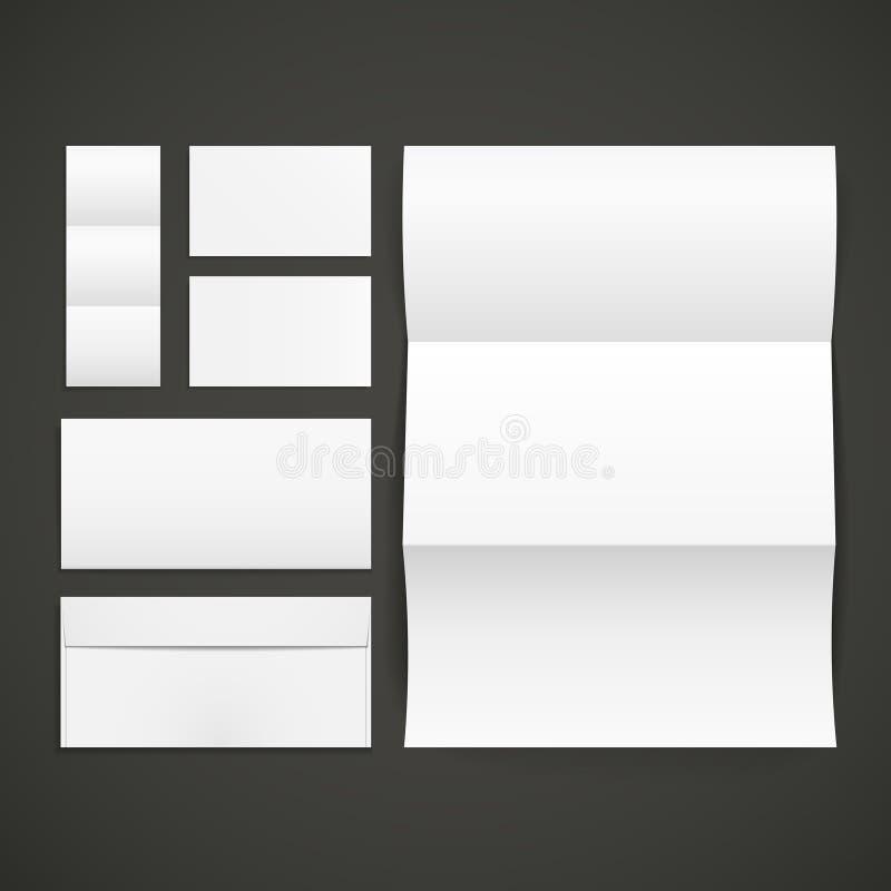 Sobres, tarjeta de visita y carpeta en blanco libre illustration