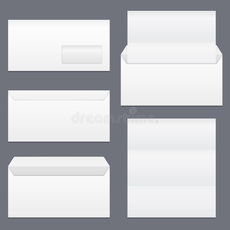 Sobres y papel ilustración del vector