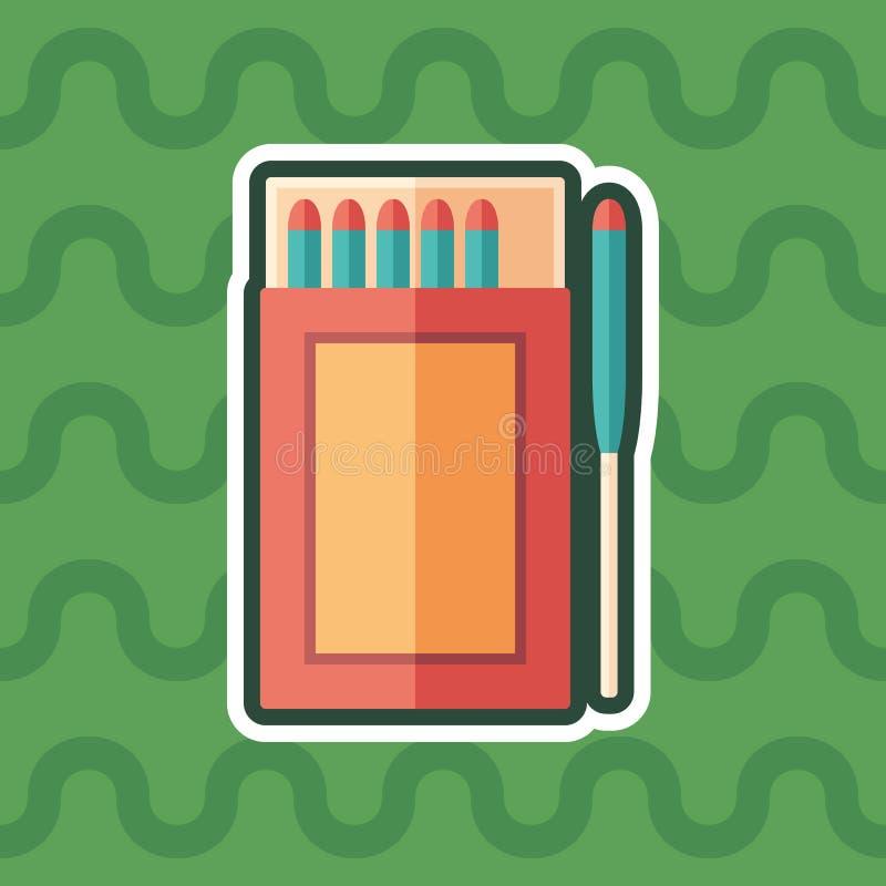 A sobrevivência combina o ícone liso da etiqueta com o fundo da cor ilustração stock