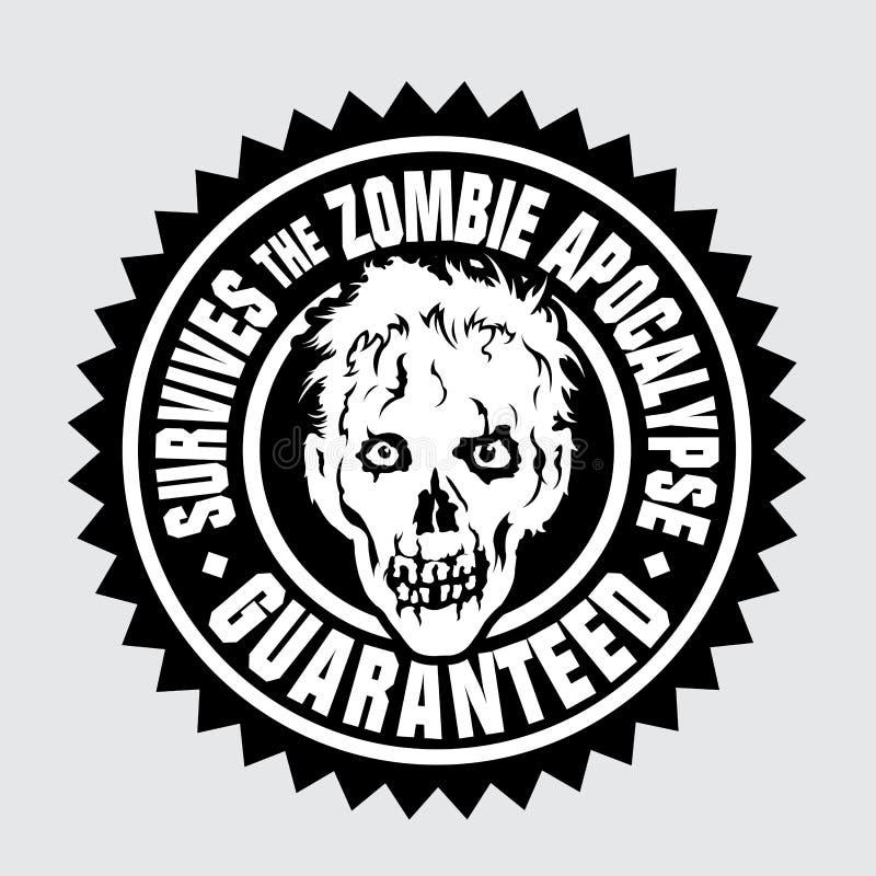 Sobrevive ao apocalipse do zombi/garantido ilustração royalty free