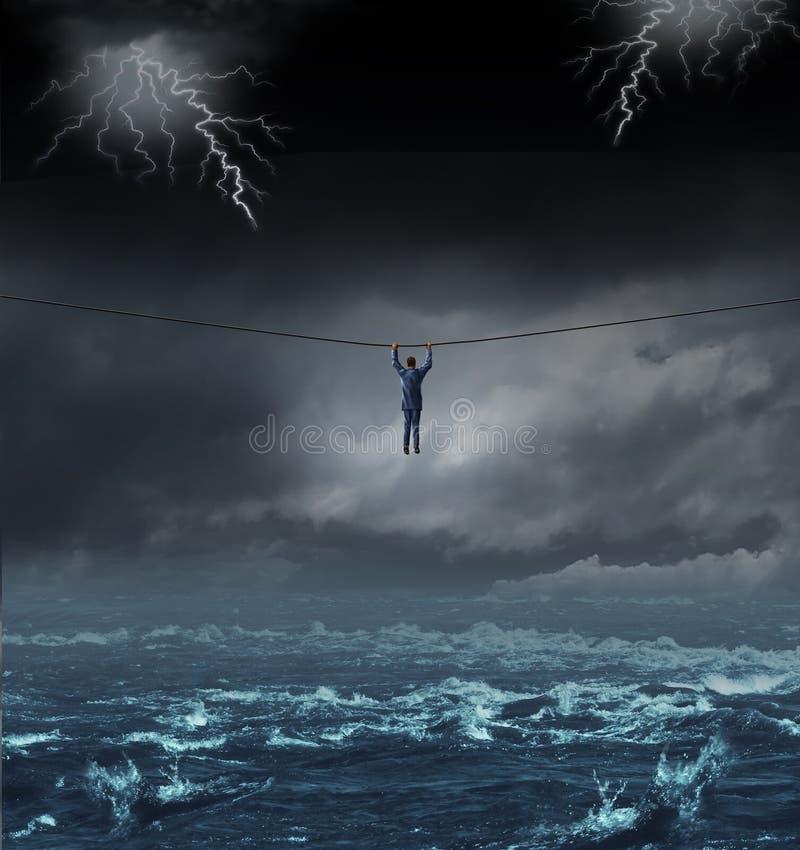 Sobrevivendo à tempestade ilustração royalty free