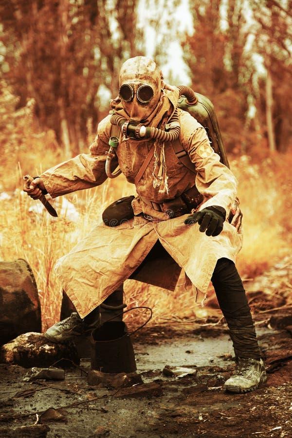 Sobrevivente nuclear do apocalipse fotografia de stock royalty free