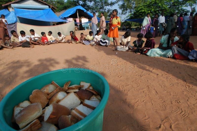 Sobreviventes do tsunami imagem de stock
