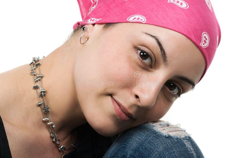 Sobreviviente del cáncer de pecho fotografía de archivo