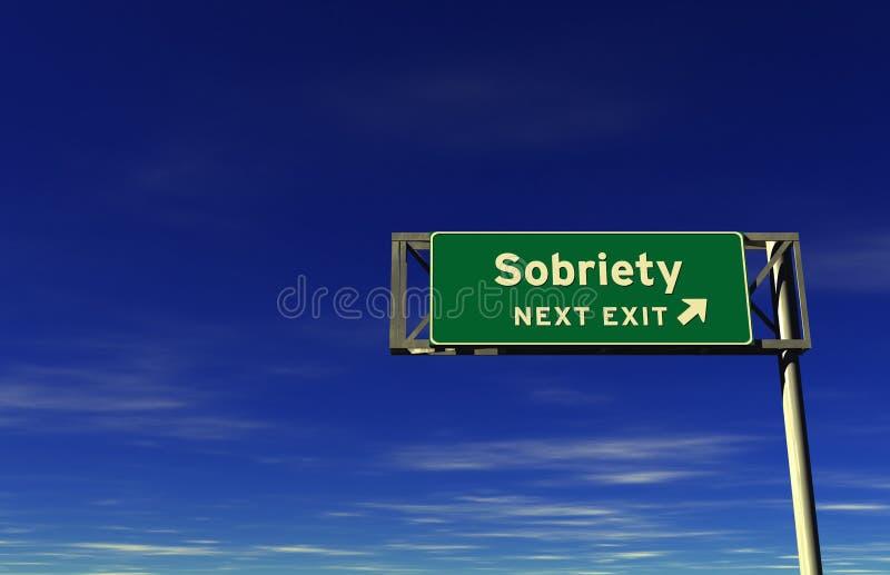 Sobriété - signe de sortie d'autoroute illustration libre de droits