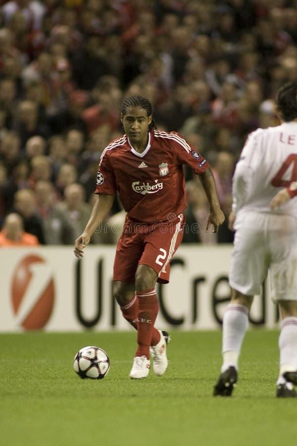 Soc: Meister-Liga - Liverpool gegen Debreceni VSC stockbild