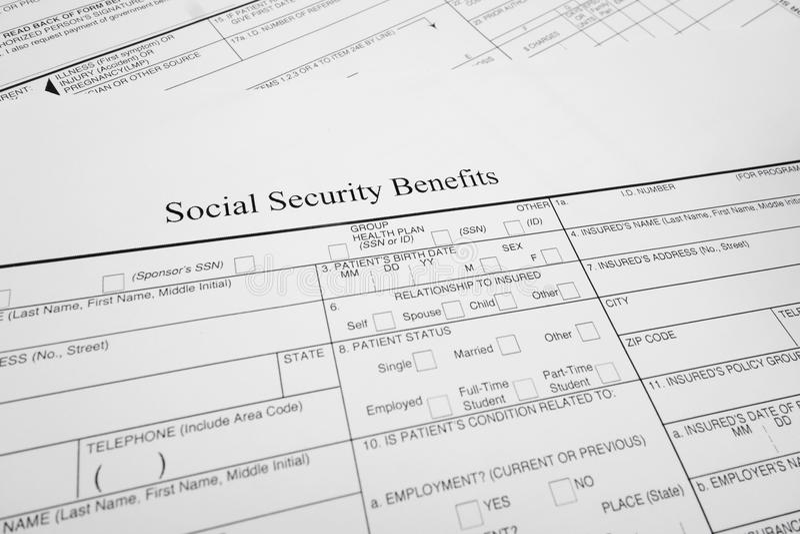 Soc Sec benefits stock photos