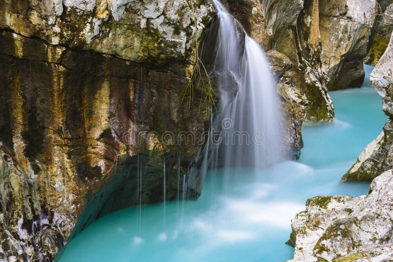 Soca河,斯洛文尼亚伟大的峡谷  库存图片