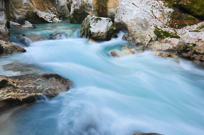 Soca flod fotografering för bildbyråer