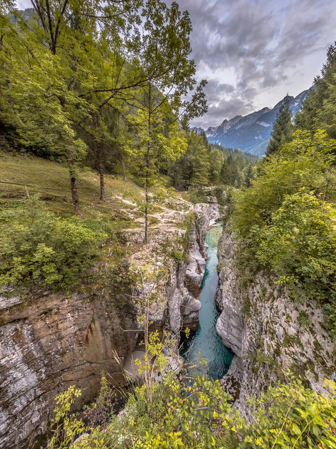 Soca river Gorge Slovenia royalty free stock photography