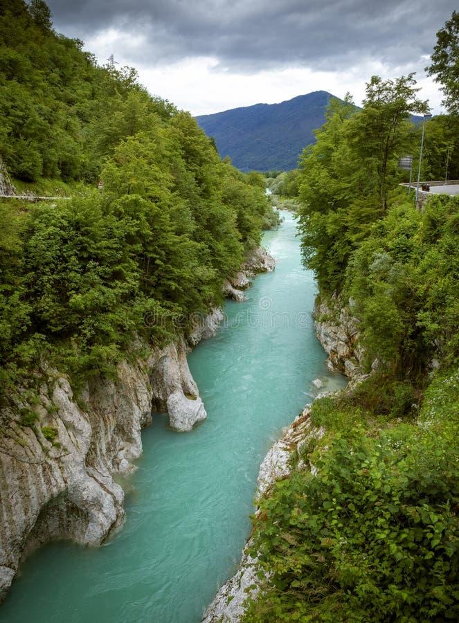 Soca river in Slovenia. Soca river in western Slovenia stock photography