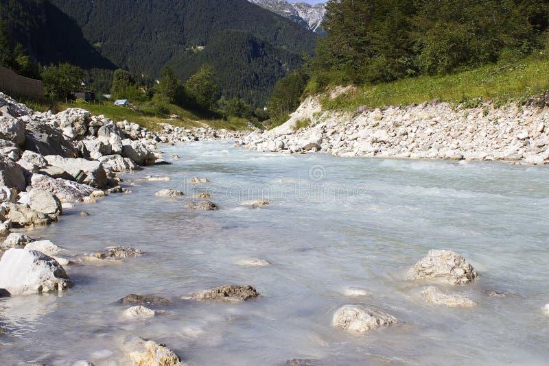The Soca river, Slovenia royalty free stock image