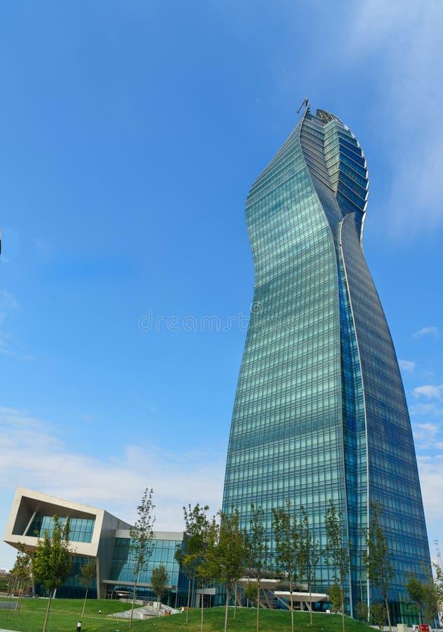 Socar Tower à Bakou image libre de droits