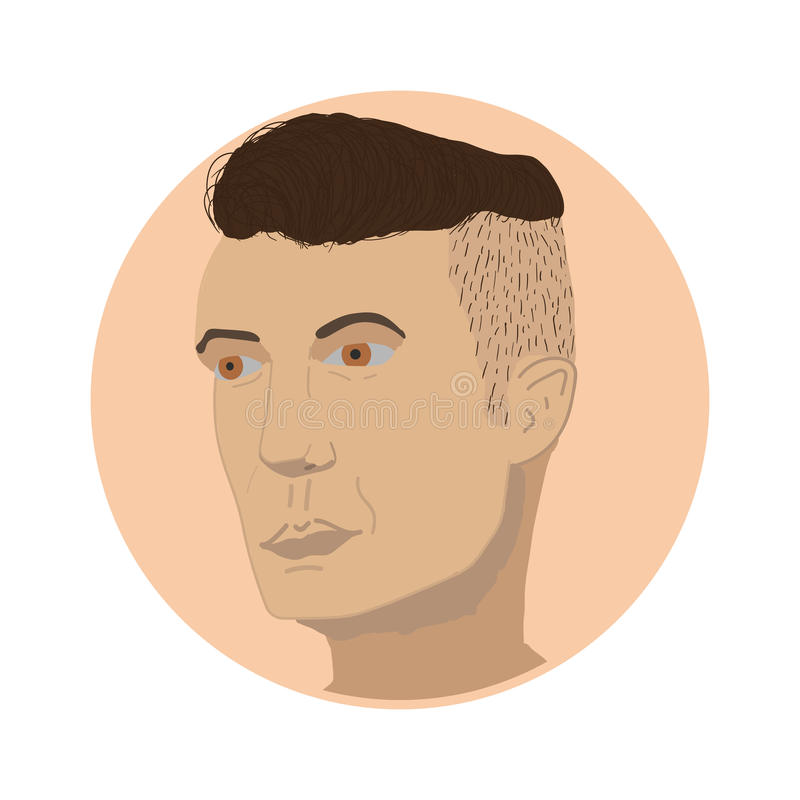 Socava del estilo de Barber Hair libre illustration