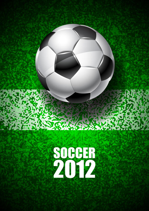 Download Soccer 2012 stock vector. Image of close, crowd, night - 24311161
