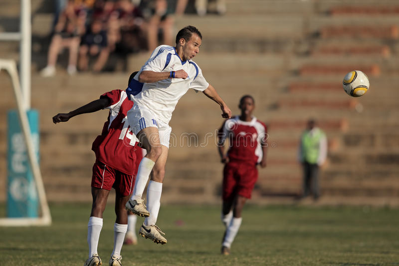 Soccer action royalty free stock image
