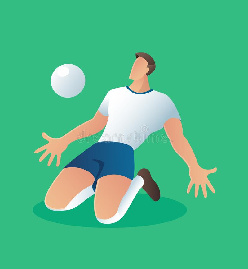 Soccer action player , football player celebrate goal illustration vector illustration