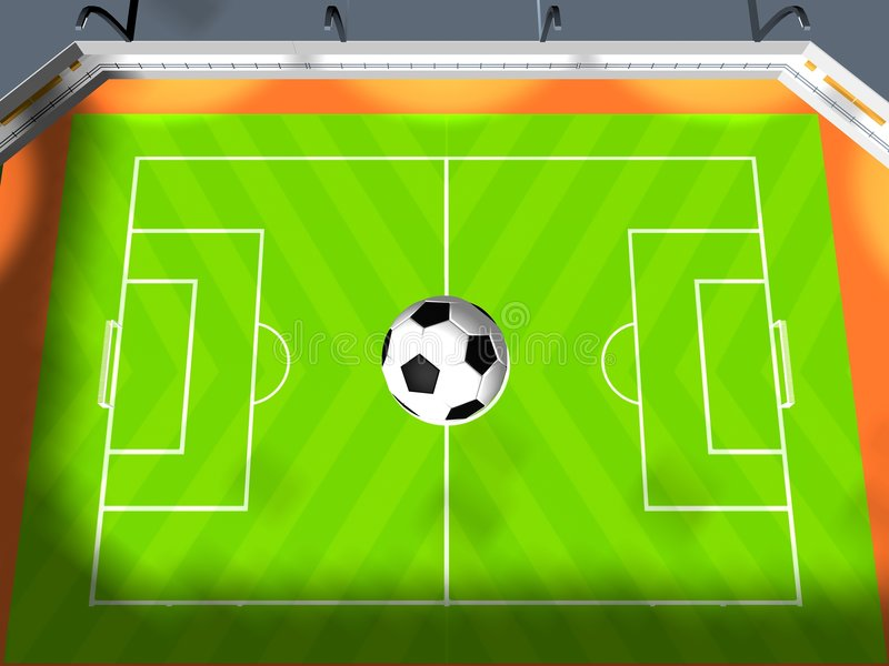 Soccer arena royalty free stock images