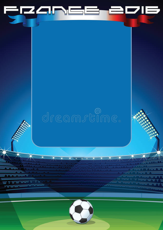 Soccer Background Template royalty free illustration