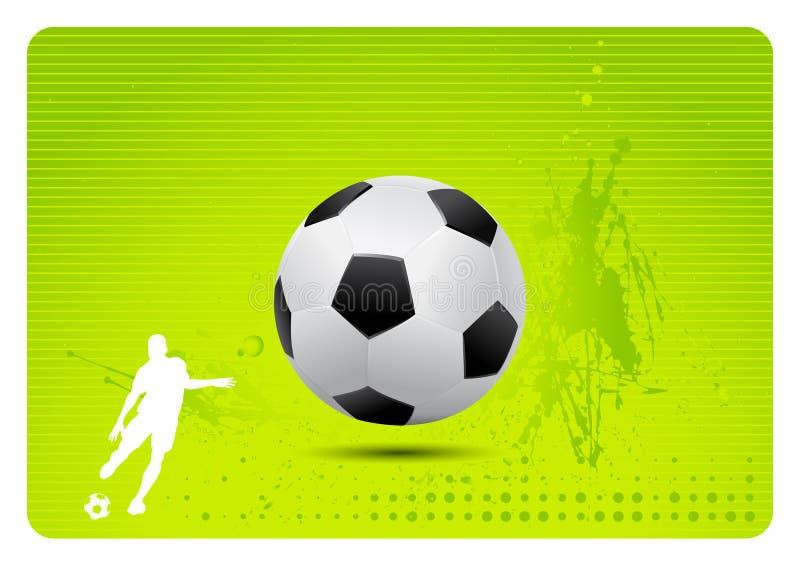 Soccer background (vector). Detailed vector soccer ball on soccer motive background with player vector illustration